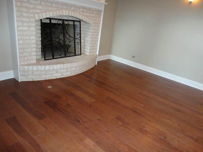 Residential Hickory Hardwood Flooring Installation