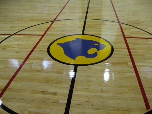 Wildcat Gymnasium Floor Refinishing