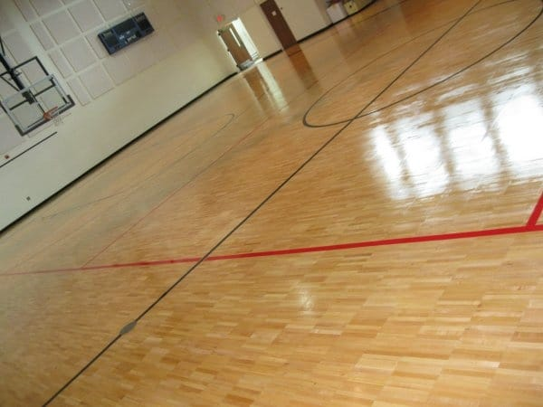 Gymnasium Floor Refinishing