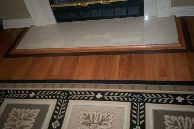 Decorative Wood Fireplace Surround Flooring Installation
